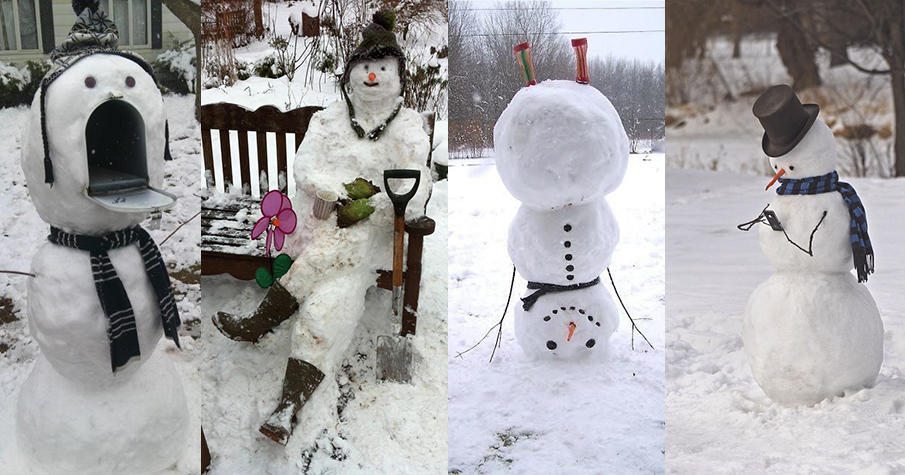 Real snowman ideas