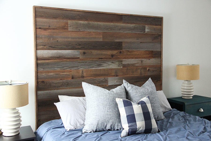 Low cost DIY tutorial for a reclaimed wood headboard