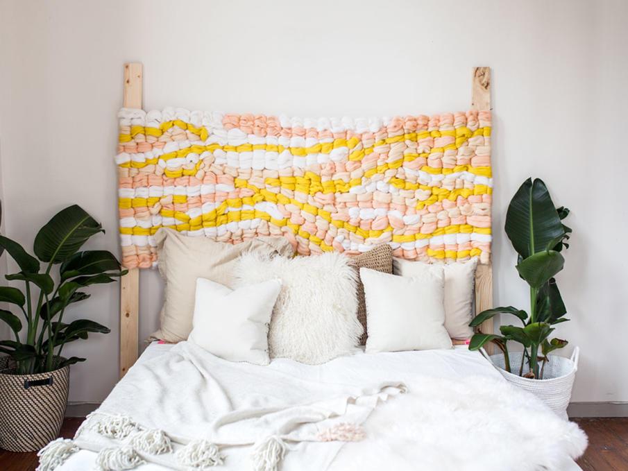 Wool Yarn Headboard