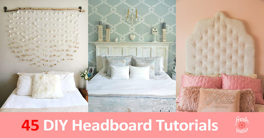 45 Diy Headboard Tutorials Ideas With Wood Upholstered Or