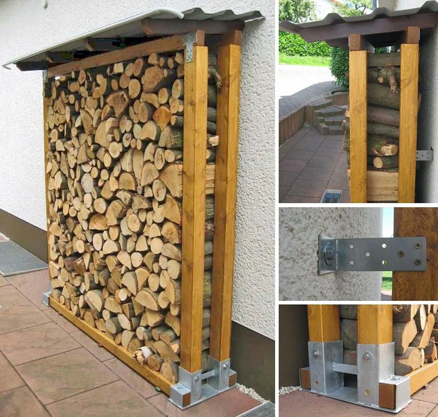 Outdoor Firewood Storage Ideas 30 Best, Outdoor Log Rack
