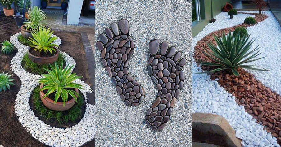 Landscaping with river rock - 130 ideas and designs