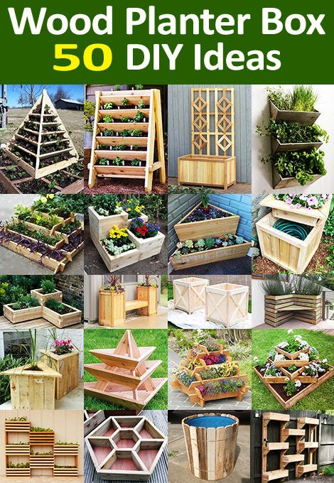 Wooden Planter Box Ideas for DIY