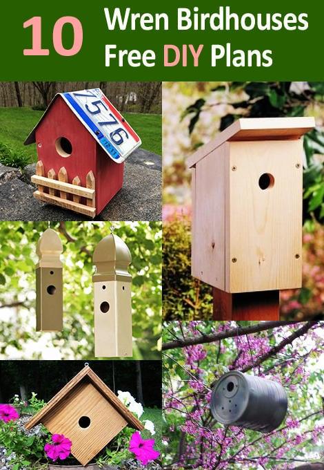 10 coolest diy wren bird house plans