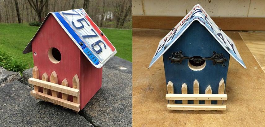 License Plate Wren Bird House Plan