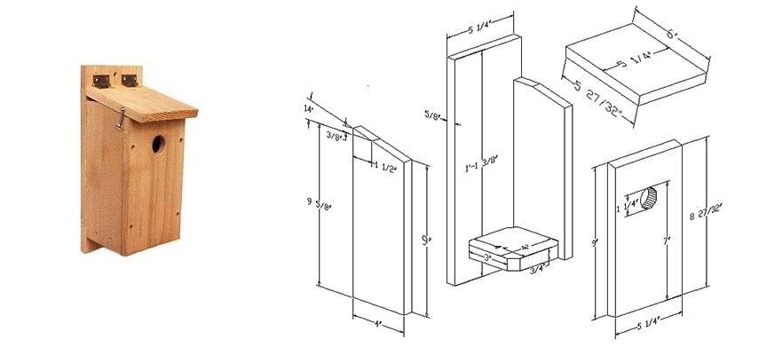 Wren nest box plan