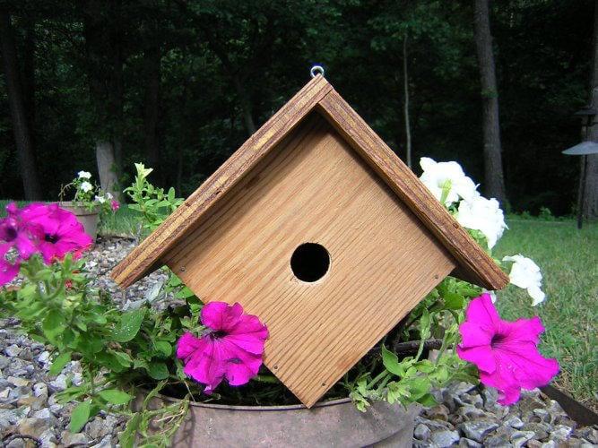 Diamond Shaped Birdhouse Plan for a Wren