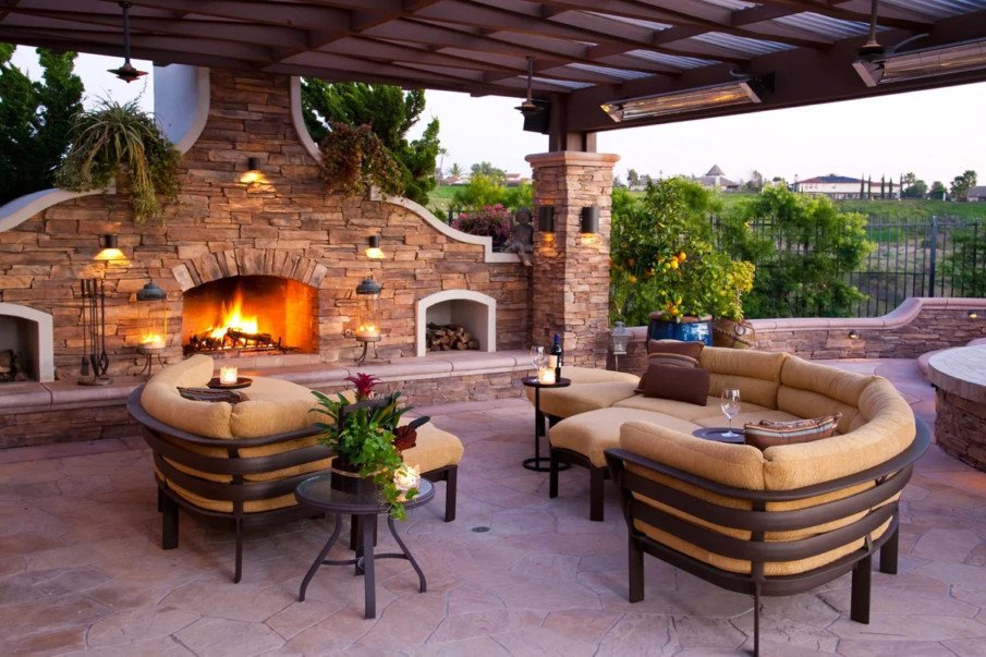 Amazing fireplace ideas for patio