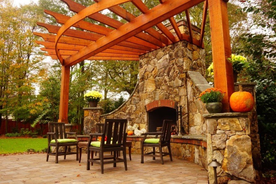 40 Best Patio Designs with Pergola and Fireplace - Covered ... on Patio Ideas 2020 id=95345