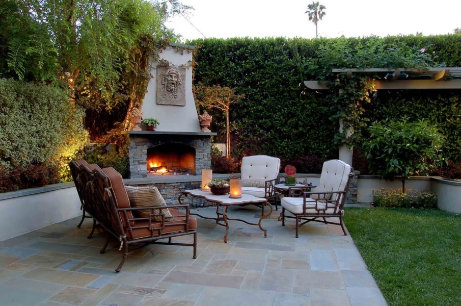 Beautiful patio with fireplace ideas