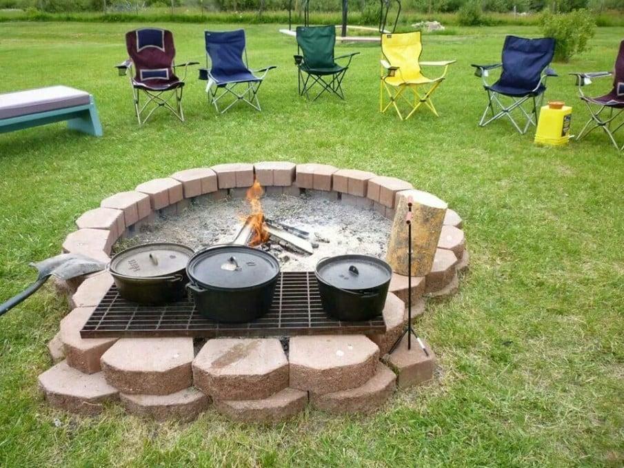 Cheap BBQ grill fire pit ideas
