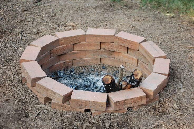 Cheap inground fire pit idea