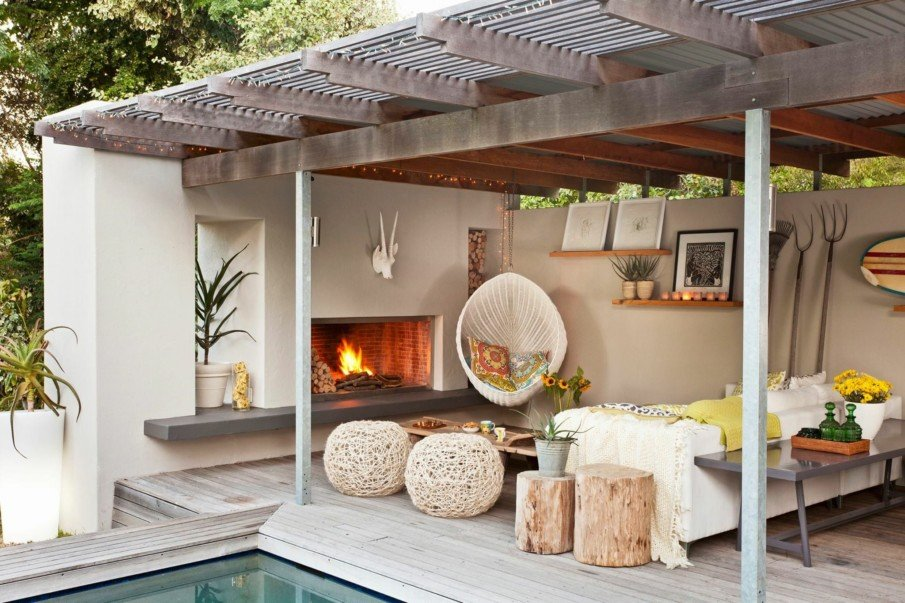 Covered outdoor living space ideas