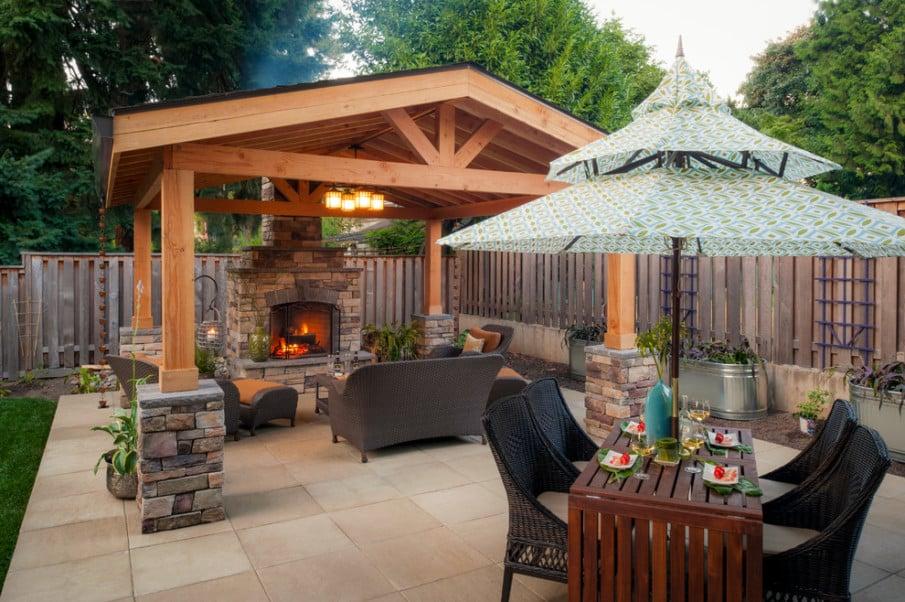 Large covered patio idea