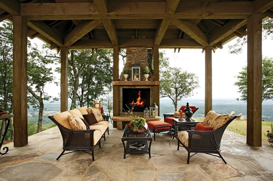 Covered patio living space idea