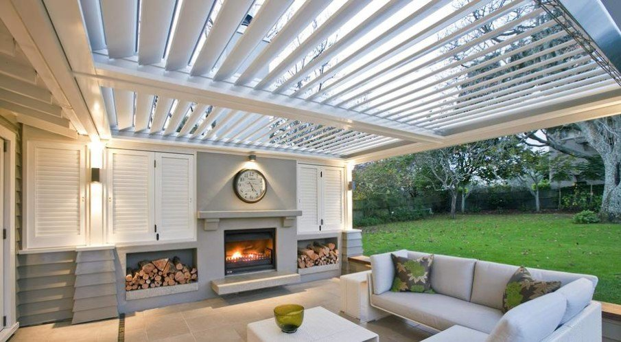 Covered patio outdoor space idea