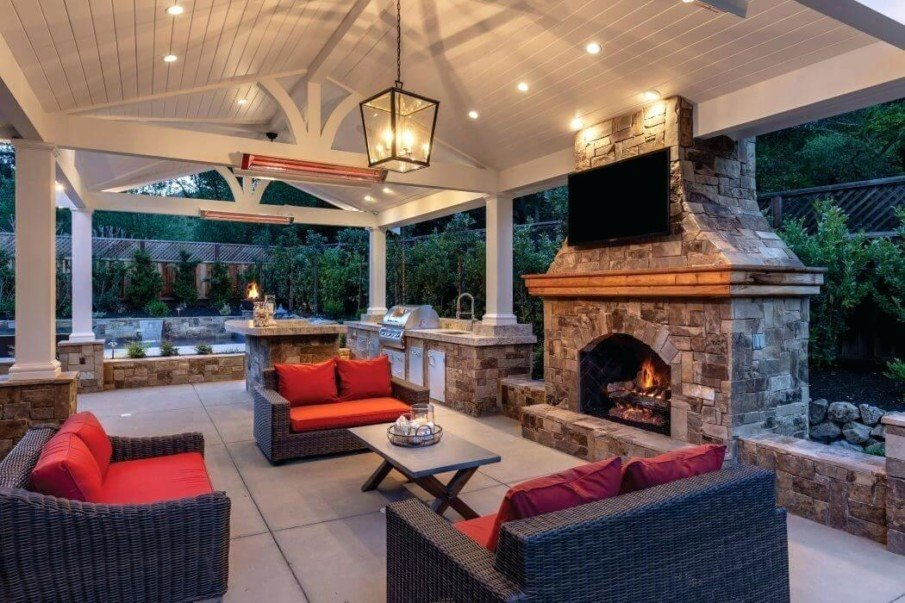 Covered patio space ideas