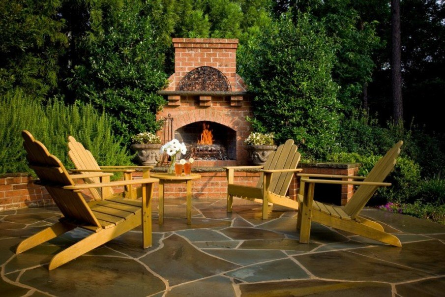 Cozy patio fireplace ideas