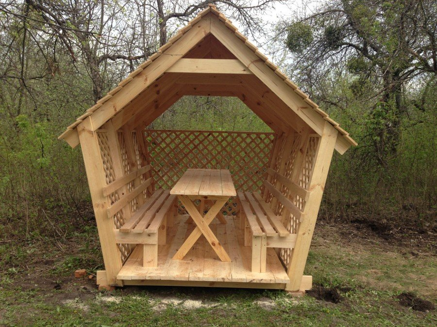 Creative arbor bench design