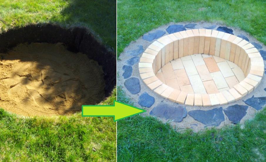 DIY inground fire pit idea