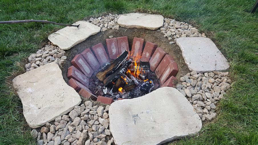 DIY sunken firepit idea