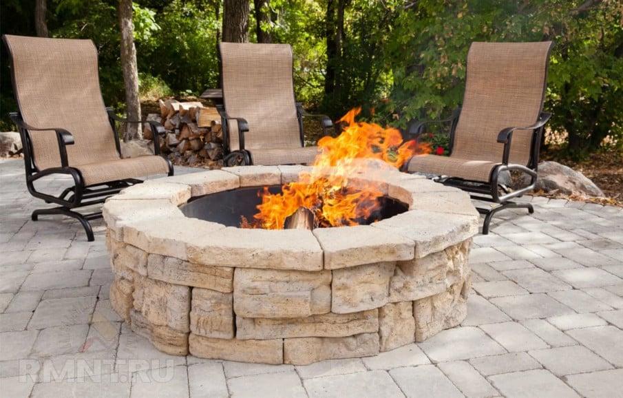 Fire pit paver stones ideas