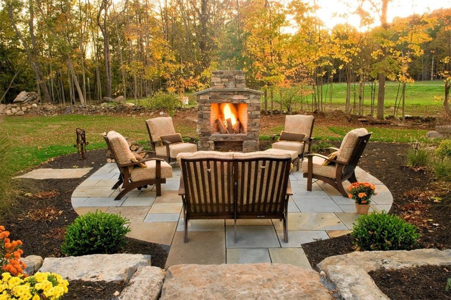 Fireplace ideas for small patios