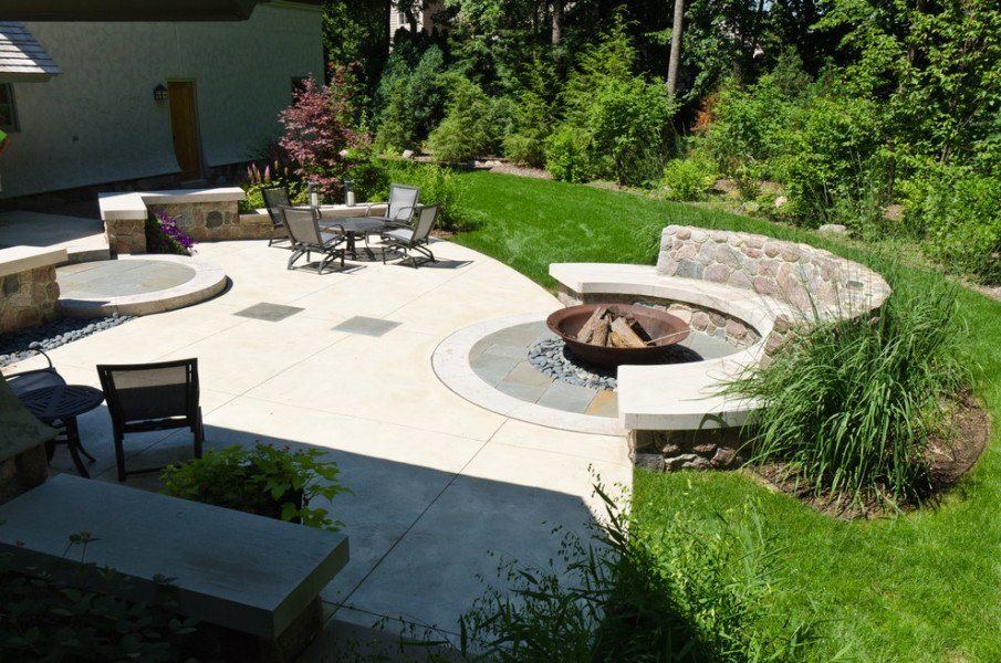 Half circle fire pit seating ideas