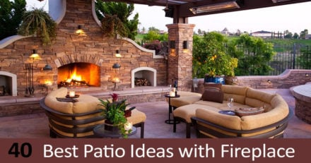 40 Best Patio Ideas with Fireplace for Traditional