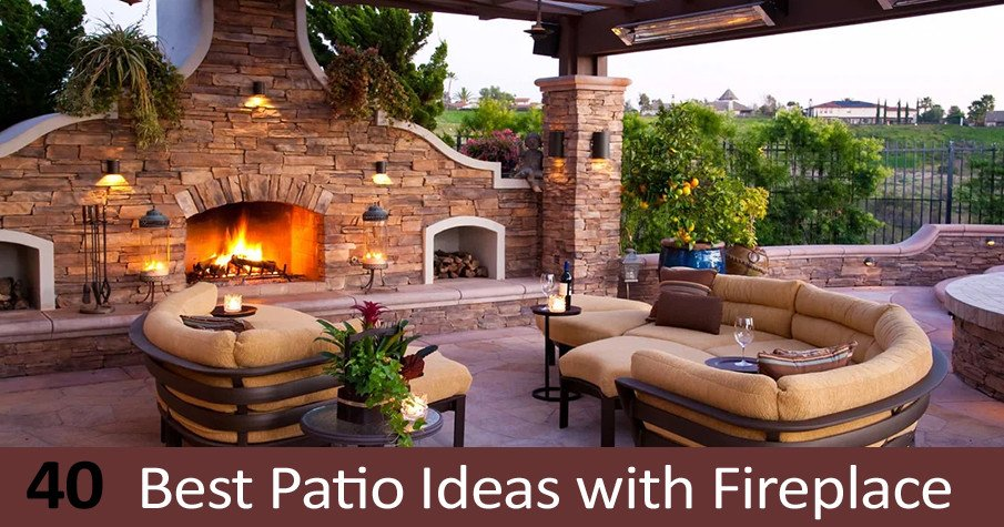 40 Best Patio Ideas with Fireplace for Traditional Designs