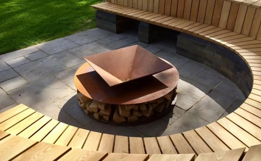 Round fire pit seating designs