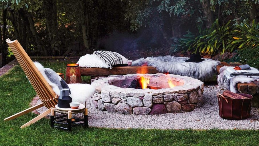 Simple fire pit setting ideas on a budget