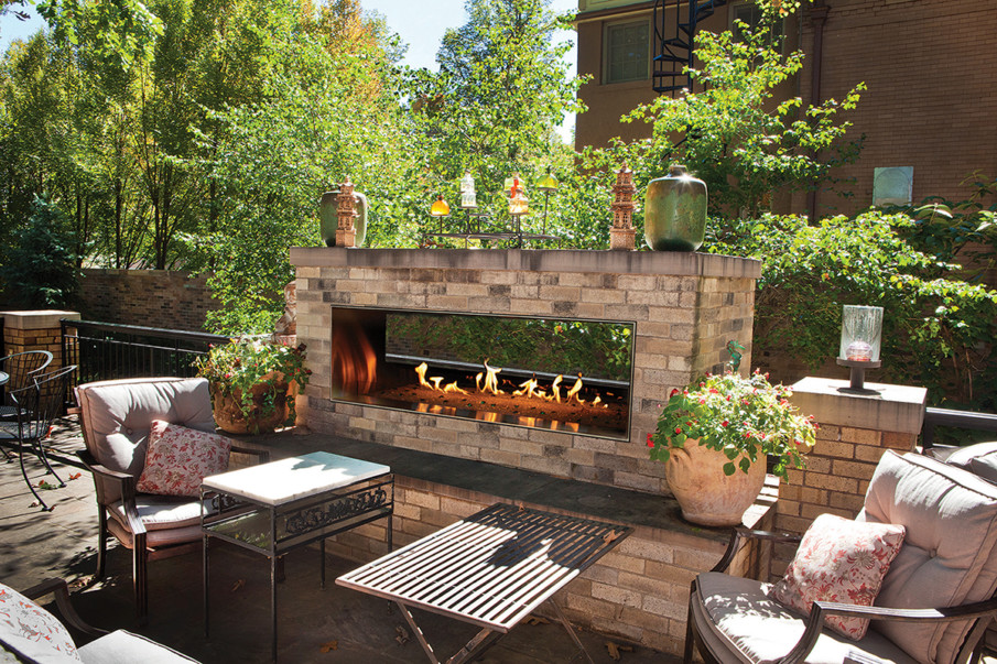 See through patio fireplace ideas