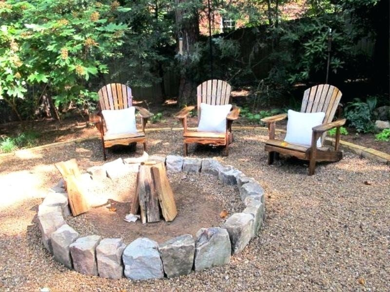 Simple fire pit setup made with a few stones