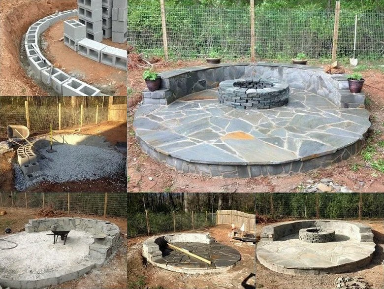 Small circular fire pit patio ideas 1