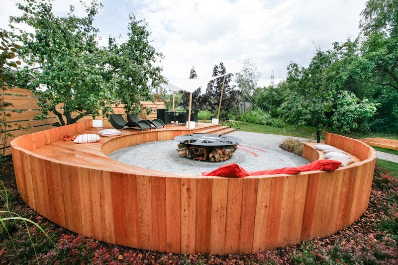 Stunning circular fire pit seating are ideas