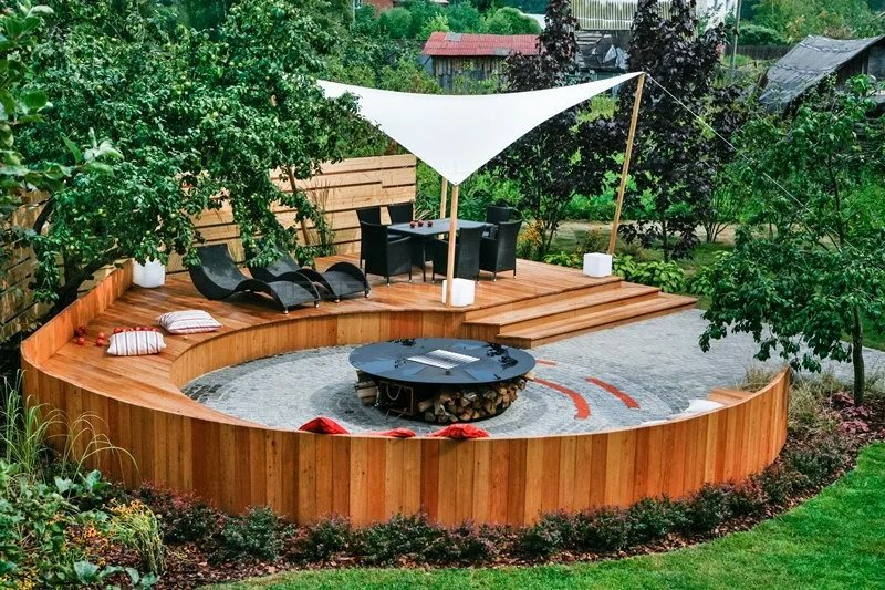Stunning circular fire pit seating area ideas