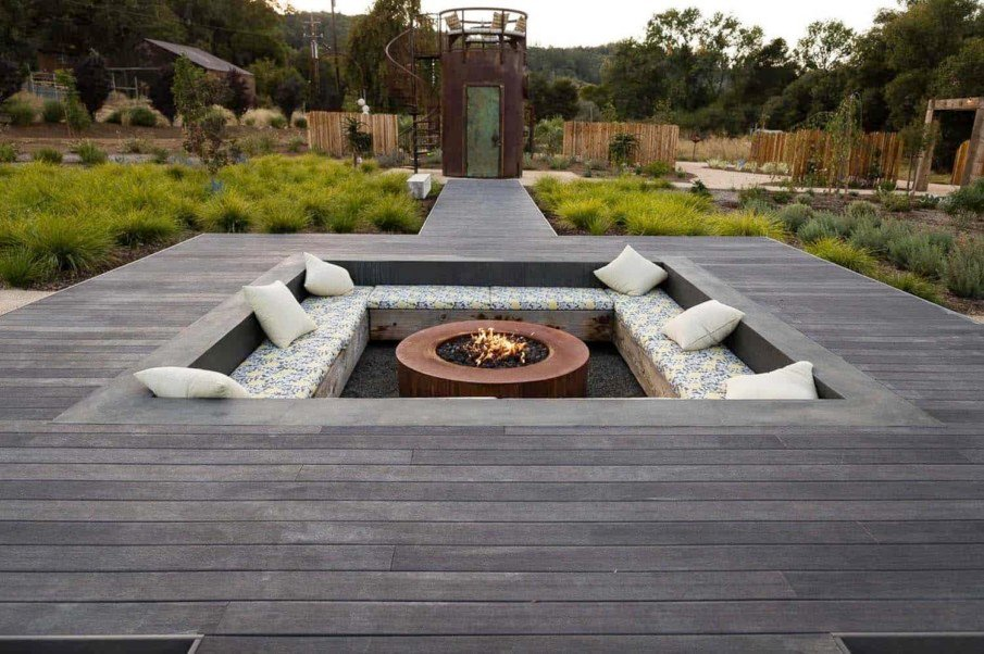 Sunken fire pit patio ideas