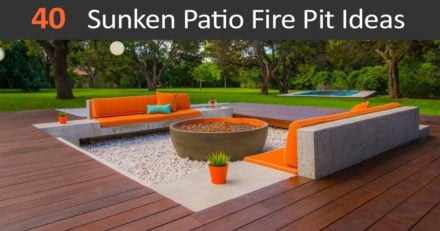 40 Best sunken patio fire pit ideas