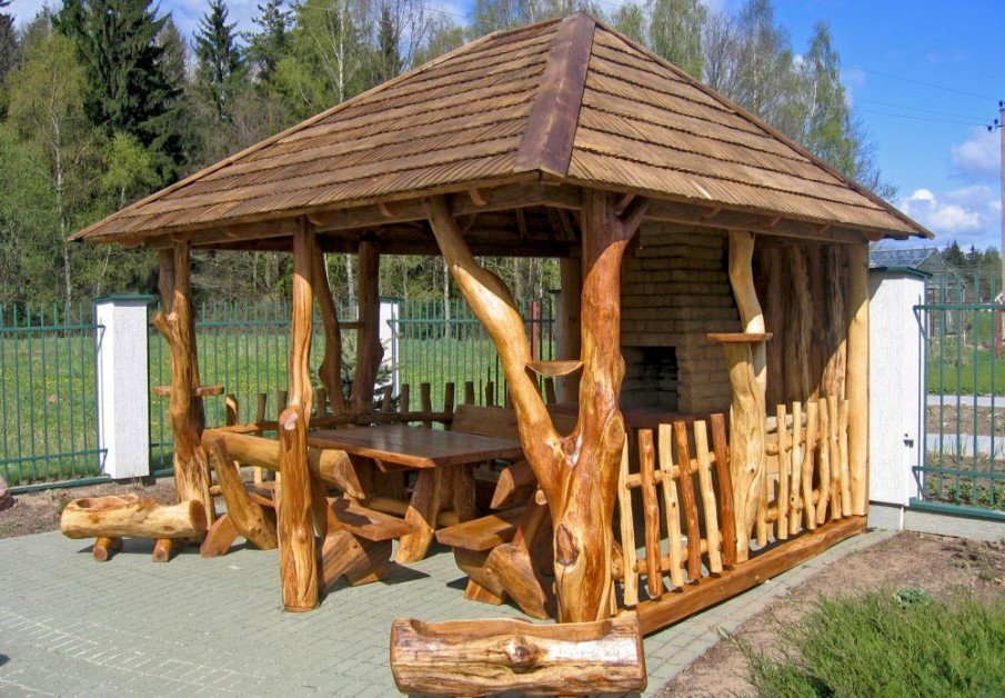 Unique backyard gazebo idea