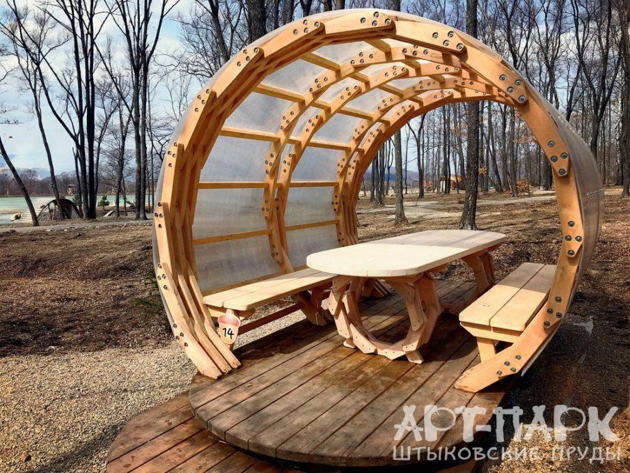 Unusual backyard structures