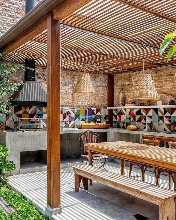 Awesome outdoor kitchen pergola ideas