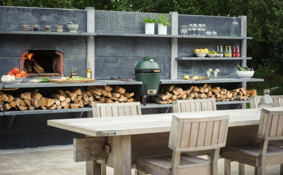 Big green egg modular outdoor kitchen ideas
