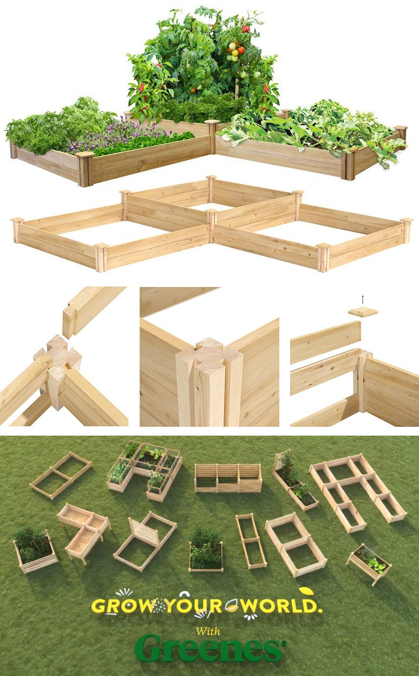 Two tier Cedar raised garden bed