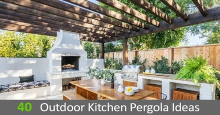 40 Outdoor kitchen pergola ideas