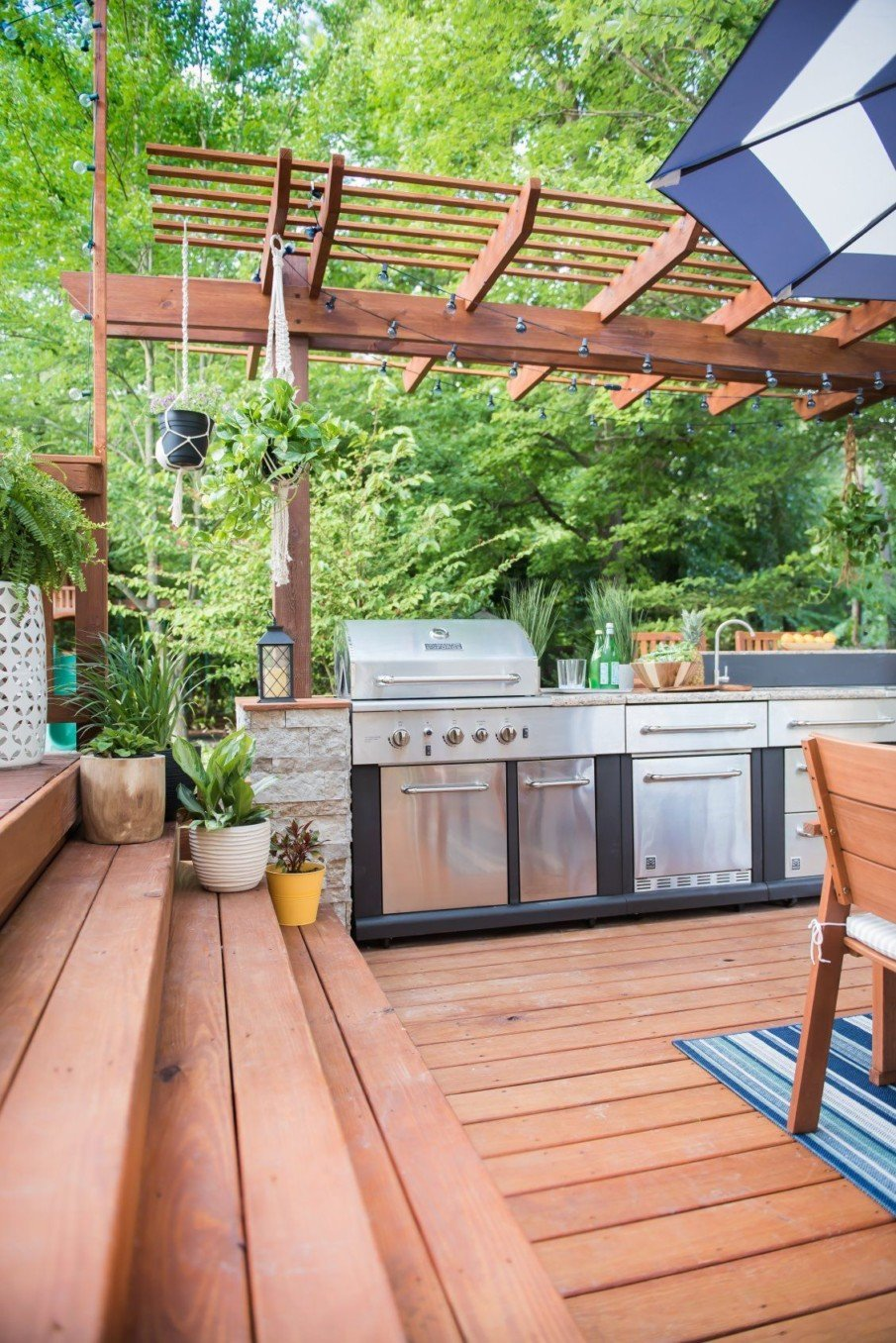 40 Outdoor Kitchen Pergola Ideas For Covered Backyard Designs