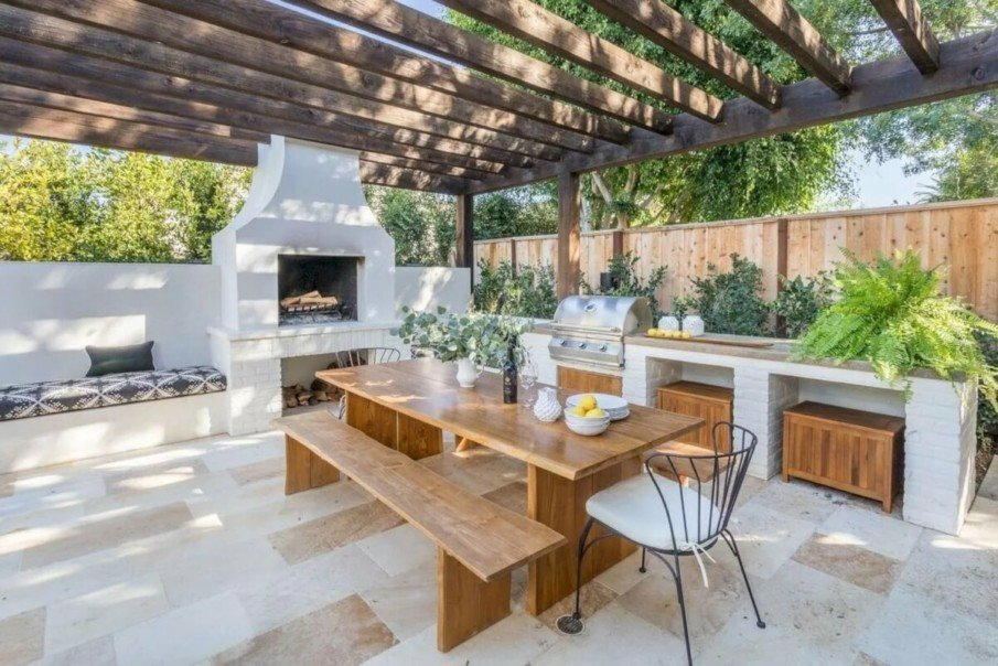 Outdoor kitchen pergola images