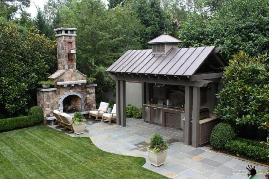 Pergola outdoor kitchen designs