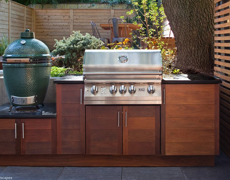 Simple big green egg outdoor kitchen island plan
