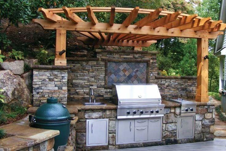 Stunning pergola outdoor kitchen ideas